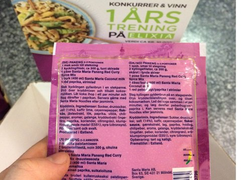 IKKE SPESIELT SUNT: Innholdslisten i denne kryddermiksen er ikke spesielt sunn. Sukker, druesukker og salt utgjør hovedingrediensene.