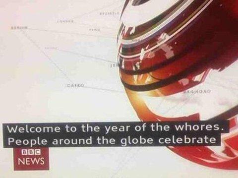 IKKE HELT HELDIG: BBC la ut denne lykkeønskningen i helgen.