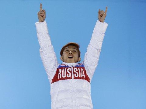 OL-GULL: Viktor Ahn vant OL-gull for Russland.