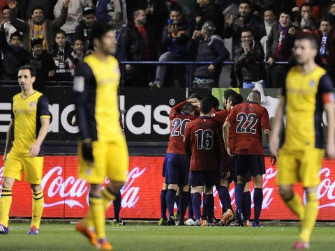 SJOKKTAP: Atletico fikk juling av middelhavsfareren Osasuna søndag.