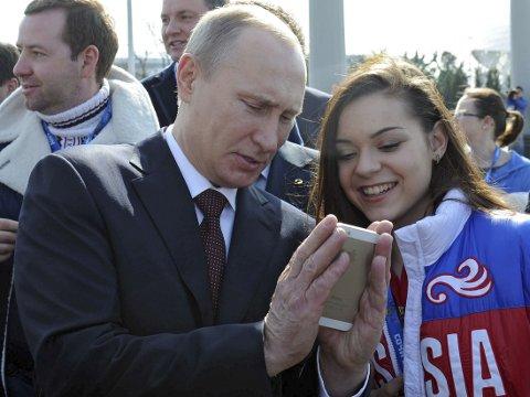 FORNØYD: Vladimir Putin var godt fornøyd etter Sotsji-lekene.