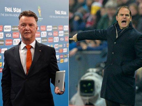 KANDIDATER: Skulle David Moyes få sparken i Manchester United, lanseres både Louis van Gaal og Frank de Boer som mulige erstattere.