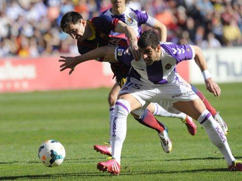 TAPTE: Lionel Messi og Barcelona tapte lørdag 1-0 mot Valladolid i La Liga.