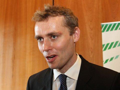 VANT: Ola Borten Moe vant maktkampen om vervet som 1. nestleder i Senterpartiet på partiets ekstraordinære landsmøte mandag.