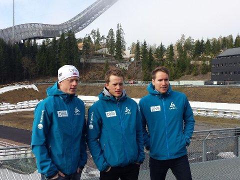 SNAKKER UT: Skiskytterne møtte pressen fredag morgen. Foto: Simen Lønning (Mediehuset Nettavisen)
