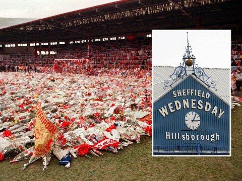 SKAL MARKERES: I England starter kampene syv minutter senere enn normalt denne helgen, for å markerer at det er 25 år siden den tragiske ulykken der 96 fotballfans døde under en kamp mellom Liverpool og Nottingham Forest. Klokken (innrammet), som viser 15:06, viser når kampen ble stoppet.