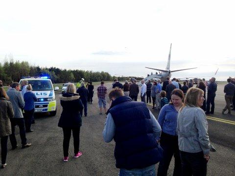 PASSASJERER EVAKUERT: Et Norwegian-fly på vei fra København til Oslo nødlandet fredag i Göteborg på grunn av en bombetrussel mot flyet.