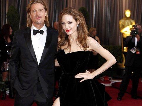 SUPERPAR: Brad Pitt og Angelina Jolie skal spille sammen i en ny film, skrevet av Jolie, ifølge amerikanske medier. Ingenting er satt, men prosjektet er på diskusjonsfasen.