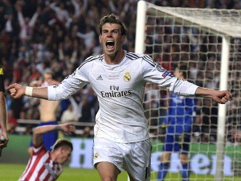 SNUDDE KAMPEN: Real Madris Gareth Bale satte inn 2-1 målet i den andre ekstraomgangen. Marcelo og Ronaldo lå på til henholdsvis 3-1 og 4-1.