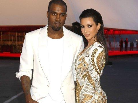 MANN OG KONE: Rapperen Kanye West og reality-stjernen Kim Kardashian giftet seg i forrige uke.