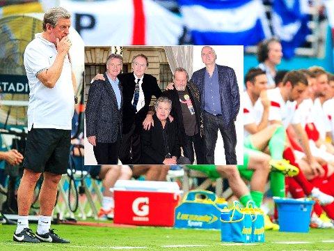 NEDTUR I VENTE: Roy Hodgsons England levnes ikke store sjanser for å lykkes i VM av Monty Python (innfelt).