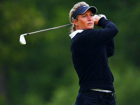 KLATRET: Suzann Pettersen endte blant de ti beste.