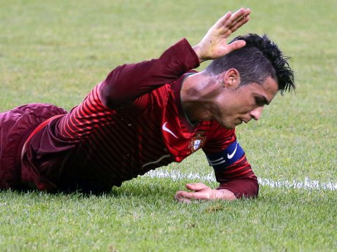 INGEN «TV-JUBEL»: Det ble ikke mål på Cristiano Ronaldo i comebacket etter skadce, men Portugal imponerte.