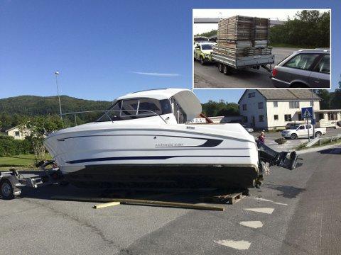 Mannen som fraktet dette stillaset ut av Bodø for en drøy uke siden mistet førerkortet selv om stillaset fortsatt lå der det skulle. Mannen som mistet båten under transport i Valnesfjord beholdt førerkortet. Flere reagerer nå på politiets praksis når det gjelder lastesikring.
