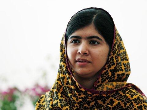 NOMINERT: Malala Yousafzai (16) ble skutt av Taliban, men har siden vært en talsperson for jenters rettigheter i Pakistan. Hun holdt i fjor tale i FN, har mottatt en rekke priser og var regnet som en av favorittene til Nobels fredspris. Hun er nominert på nytt i år.