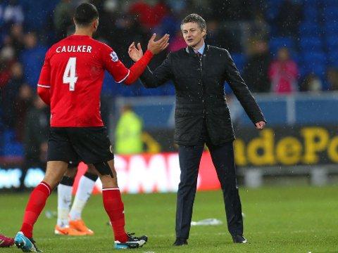 SKILLER LAG: Steven Caulker er angivelig én av spillerne som forlater Ole Gunnar Solskjærs Cardiff-skute i sommer.