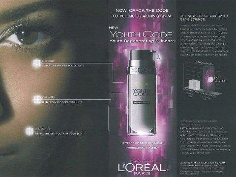 GENTEKNOLOGI: L'Oréal får ikke lenger lov til å markedsføre seg med lovord om foryngende genteknologi.
