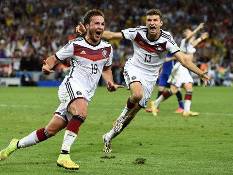 INNBYTTERHELTEN: Mario Götze kom inn fra benken og sikret Tyskland VM-tittelen med sin scoring etter 113 minutter.
