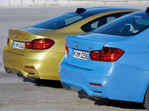 To av de råeste bilene med BMW-logoen på bakluka - M3 og M4.