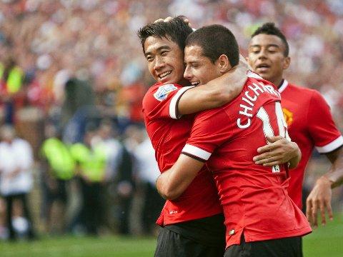 LOVENDE: Shinji Kagawa, Javier Hernánedez og resten av Manchester United banket mesterligamesteren.
