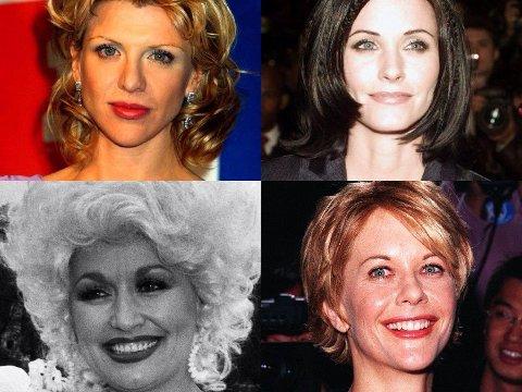 En gang noen av verdens aller vakreste damer, men nå har de lagt seg under kniv, sprøytespiss og alt de måtte komme over.