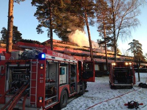En kvinne omkom etter etter brann i St. Elisabeth-hjemmet i Munkerudveien lørdag formiddag.