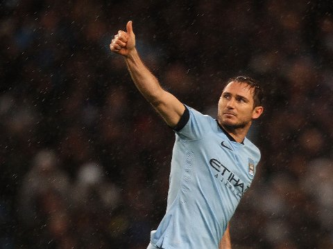 MANCHESTER-SPILLER: Frank Lampard har kun kontrakt med Manchester City.