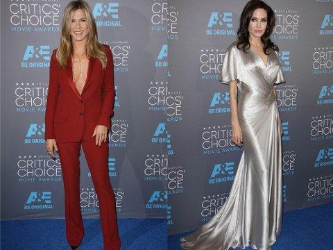 CRITICS' CHIOCE AWARDS:Jennifer Aniston og Angelina Jolie var begge nominert til priser.