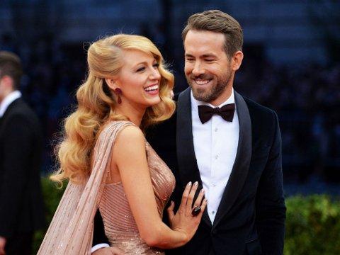 BABYNAVN: E! hevder å ha fått bekreftet at datteren til Blake Lively og Ryan Reynolds har fått navnet James.