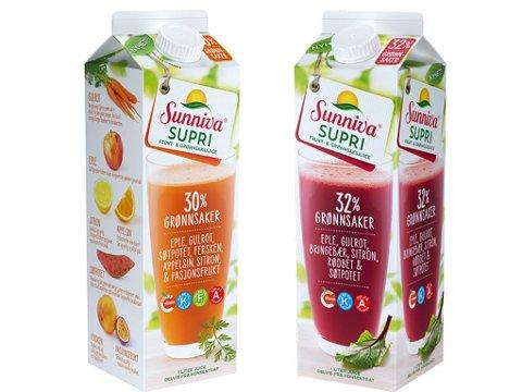 FEILMERKING: Juicene er merket med altfor høyt saltinnhold.