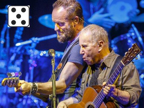 LEGENDER: Sting og Paul Simon - legender for hver sin generasjon, for første gang sammen.