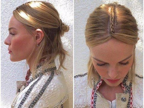 FLETTEFRISYRE: Kate Bosworth viser frem sin perfekte festivalfrisyre.
