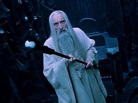 CHRISTOPHER LEEs siste store rolle var som Saruman i Ringenes Herre-filmene.