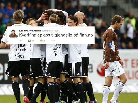 GIS BORT: Mjøndalens sportssjef Kenneth W. Karlsen med smart kommentar etter torsdagens cuptrekning.