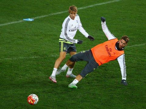 UVISS FRAMTID: Martin Ødegaard står foran en spennende sommer med Real Madrid.