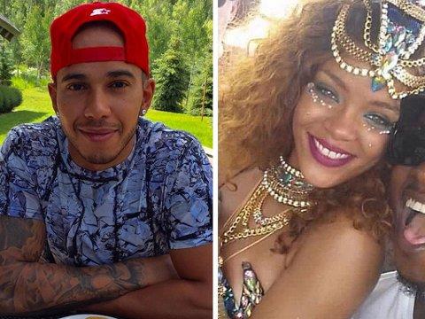 DATER DE? Lewis Hamilton og Rihanna er begge aktive på Instragram - men er de også et par? De er blitt observert mye sammen de siste ukene.