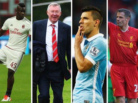 ØNSKET SEG RIVALER: Alex Ferguson (nummer to fra venstre) avslører navnene på spillere han ville ha til Manchester United da han var manager på Old Trafford. Noen av dem er kanskje mer overraskende enn andre.