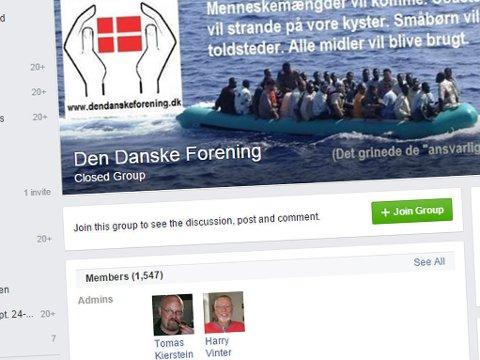 Den Danske Forening advarer mot innvandringen i Danmark. På foreningens Facebook-side diskuteres motstandskamp og borgerkrig.