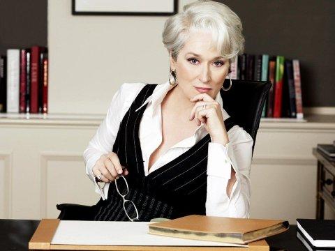 NULL TULL: Miranda Priestly fant seg ikke i noe tull, og det burde ikke du heller. Foto: The Devil Wears Prada