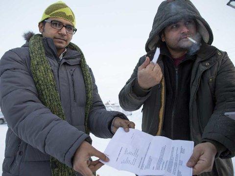 VIL IKKE TILBAKE: Muhammed Wakas og Ansar Mahmmod har begge fått avslag på asylsøknaden og er nå usikre på hva fremtiden vil bringe. Det eneste de vet er at de ikke vil tilbake til Russland.