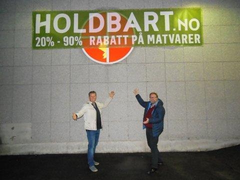 SUKSESS: Thor Johansen og Trond Laeng ville gjøre noe med all maten som kastes, og i november åpnet de Holdbart.