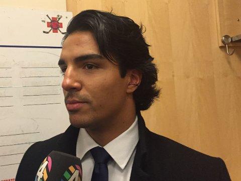 DEGRADERT: Andreas Martinsen ble tirsdag sendt til farmerlaget San Antonio Rampage.