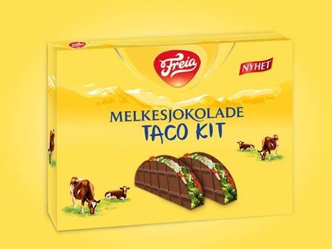 EN ALDRI SÅ LITEN 1. APRIL-SPØK: Tacoskjell i sjokolade mmm.