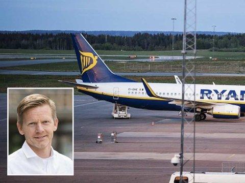 SKUFFET: Moss-ordfører Tage Pettersen (H) er skuffet etter at styret i Rygge sivile lufthavn AS har varslet avvikling av den sivile trafikken på Moss lufthavn fra 1. november i år.