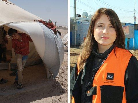 I IRAK: Norske Becky Bakr Abdulla jobber som mediekoordinator i Irak for Flyktninghjelpen. Hun har snakket med mange av familiene som nå har klart å unnslippe Falluja.