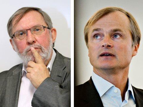 I VERBAL KLINSJ: Redaktør Harald Stanghelle og investor og PFU-medlem Øystein Stray Spetalen.