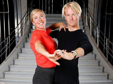 KLAR FOR DANS: Kristin Størmer Steira og Fredric Brunberg.