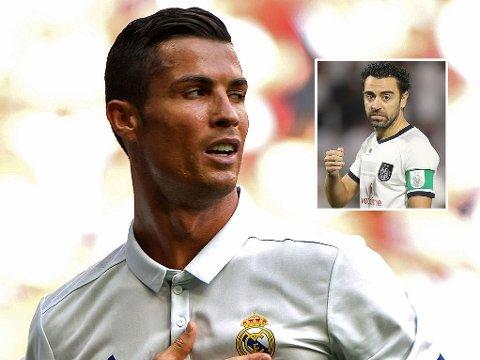 PASS KJEFTEN: Tidligere Barcelona-stjerne Xavi fikk noen meldinger tilbake av Cristiano Ronaldo etter utspillet i retning sistnevnte tidligere denne uka.