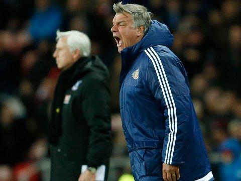 ROLLEBYTTE: Sam Allardyce, her avbildet som Sunderland-manager i vår, blir erstatteren til Alan Pardew (bak) i Crystal Palace.