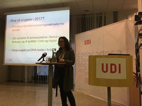 Områdeleder Cecilie Sande Amundsen sier UDI vil prioritere familieinnvandringssøknader fra syrere i 2017.